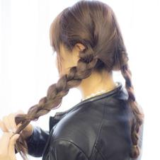 オトナかわいいローウェイト編み込みスタイル